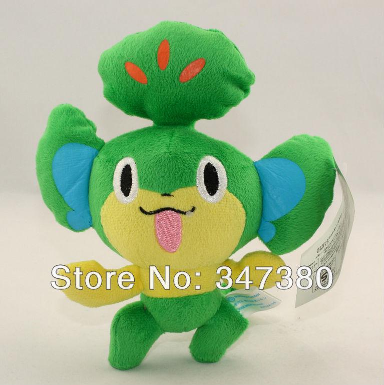 Cute Japan Anime Figure Pokemon Pansage Yanappu 20cm plush toy dolls stuffed animal toys holiday gift Retail(China (Mainland))