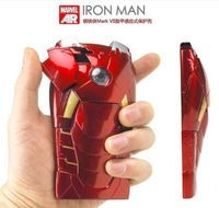 FOR iPhone 5 NEW 3D Avengers Iron Man Hard Case Cover Protective Armor With LED Flash For apple