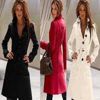 CC630# New 2014 Autumn & Winter Coat Women Slim  Overcoat Brand Trench Woman Coat Cloak