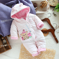 Bodysuit winter baby clothes and climb baby girl cotton romper child romper female child dresses