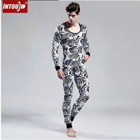 Free shipping Men Warn Long Johns Thermal Underwear for Winter Thermals Set Quality(top and pants) T320261