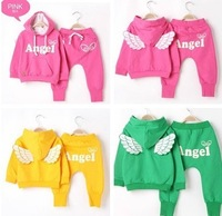 girls clothing sets sweatshirt+pant children sweatshirt set spring and autumn set casual new 2013 autumn -summer clothing set