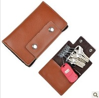 Wholesale Multi-function Key and Card Packet 2013 Fashion Leather Card Package for Business / Family Hot Selling