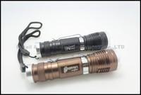 20pcs,DHL,NEW Zoomable flashlight  1000 Lm Zoomable CREE XM-L T6  Led mini Flashlight Torch mini led flashlight(603)