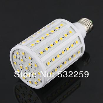 E27 18W Led Lamp Warm White(3000K) Light Source(102pcs 5050 SMD LED) AC85-265V  Free Shipping