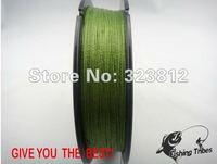 Wholesale - 100mFISHING TRIBES100%PE 8lb----80LB grass green dyneema braided fishing line free shipping