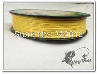 """free shipping""  150 yards YELLOW  4 wire 100% PE braided  fishing line"
