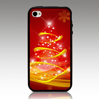 For iphone 4 4s iphone 5 5s iphone5C case Merry Christmas ZC1556 hard TPU mix PC Phone cover Wholesale Retail