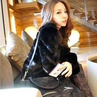 2013 autumn and winter , women's ladies fur coat medium-long faux fox fur