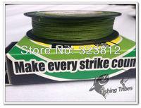 Wholesale - 100yards 8lb10LB15LB20LB30LB40LB50LB65LB80LB100LB grass green braided fishing line dyneema  free shipping
