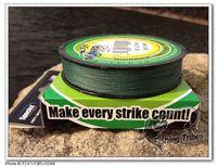 Wholesale - 100yards 8lb10LB15LB20LB30LB40LB50LB65LB80LB100LB green braided fishing line dyneema  free shipping