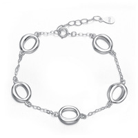 Free shipping unique beauty Fashion women's 925 pure silver bracelet silver jewelry Women jewelry lovers gifts