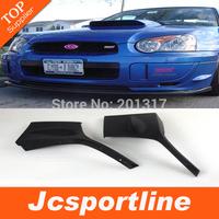 STI Style PU Front Bumper Side Corner Apron Car Front Lip Splitter for Subaru Impreza 8TH 2004 2005 Fit Standard Bumper
