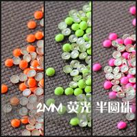 Free shipping Round Shape Nail Decoration 3D Nail Art Decoration 2mm 1000pcs/bag Wholesale
