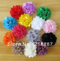 Free Shipping 100pcs/lot Mixed Colorful baby kid's Mesh Cloth flower hair band Headwear For Children Headband/Hairclip