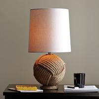 Modern brief natural vintage hemp rope table lamp bedroom bedside lamp
