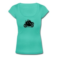 T-Shirts For Women 2014 Summer Tops Biker Women's T-shirt Scoop Neck Brand New!! Hot