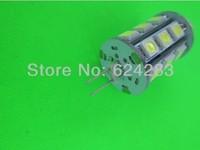 G4 4.8W 24x5050 SMD 400-450LM 3000-3500K Warm White Light LED Corn Bulb (12V)