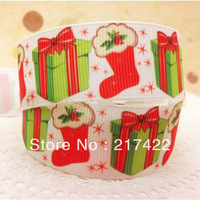 "Christmas printed  25mm(1"")  ribbon 100 yards/lot"