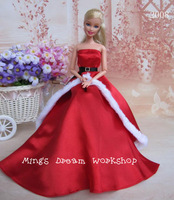 FREE SHIPPING Christmas party dress gown for barbie doll - Item no.2008*1