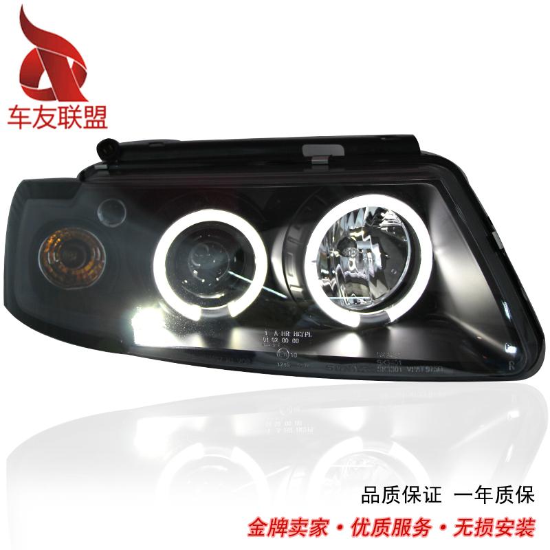 Passat b5 headlight assembly passat b5 refit angel eye lens xenon lamp dacryops led headlight(China (Mainland))