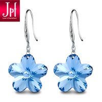 Christmas Gifts Fashion Jewelry Jpf earrings 925 silver crystal earrings silver jewelry fashion all-match gift  Free shipping
