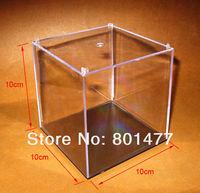 "2X Clear Acrylic Display Case Toy Display Multi-use Dustproof Transparent Box 10x10x10cm/4"" HDC5"