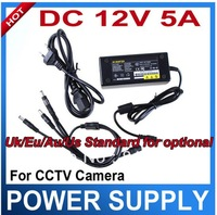 4Channel DC Power 12V 5A Power Adapter Power Supply Power Source for Cctv camera  E009A Free Shipping