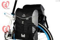New Waterproof bicycle bag side bag conjoined bike rack Cycling equipment mountain bike carry bag 30L