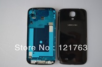 Black Full Replacement Housing Case Cover Front Bezel Frame+Chassis+Back cover+Button For Samsung I9500 Galaxy S4 Free Shipping