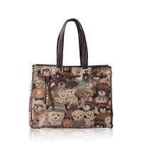 2013 leather jacquard cloth to do China's teddy bear, teddy bear cute handbags series, inclined shoulder bag 803#free shipping.