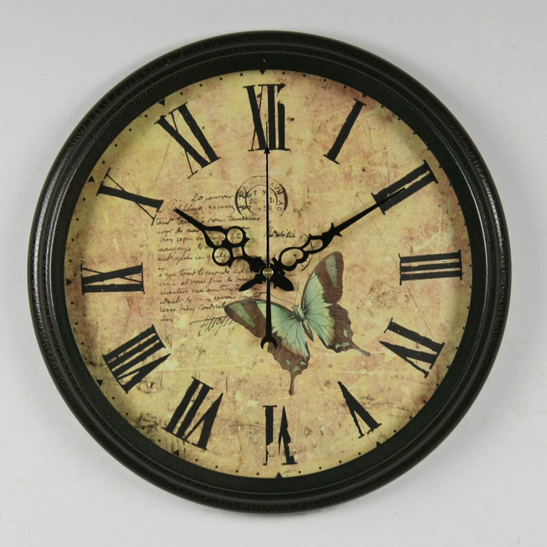 Large Vintage Wrought Iron Wall Clock Silent Movement Iron