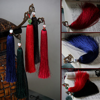 Chinese style classical porcelain beads tassel hair stick gift bookmark