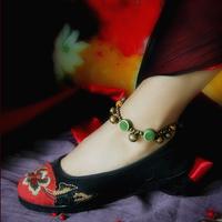Adjustable vintage bell anklets apotropaic anklets female