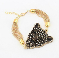 Min. Order $15 (Mix Designs) Factory Outlet Europe Luxury Leopard  Women Bracelets,Free Shipping,B101