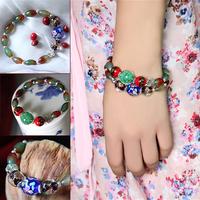Peacock agate bracelet candy color colored glaze bracelet female fashion