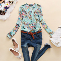 Lovable Secret - Aap-y427 2013 autumn women's long-sleeve top V-neck basic shirt j-21  free shipping