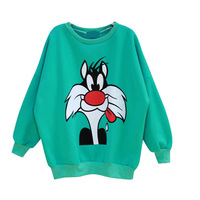 Cartoon comic pullover sweatshirt sty nda autumn female