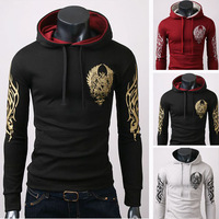 2013 New fall coats mens outwear Special Hoodie Coat men clothes men's jacket fashion print hooded pullover sweatshirt