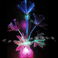Optical fiber flower wire lily flower colorful shiny hot-selling toys home decoration 014