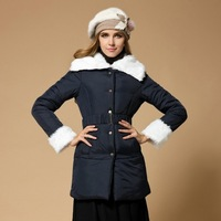 Free shipping thickening women clothing winter coat down fashion parkas womens' winter blue girls ladies winter thickening coats