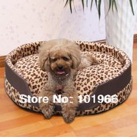 Free Shipping Leopard Pet Dog Cat Bed Home House Dropshipping Size:S