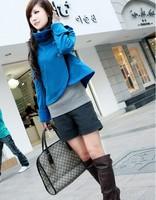 2013 women's slim elegant design short coat all-match stand collar woolen outerwear female
