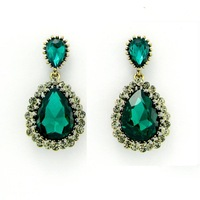 New High Quality Jewelry Fashion  Classic Rhinestones Big Water Drops CC Crystal  Earrings