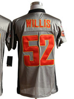 wholesale new American Football Men's Elite Jerseys #52 Patrick willis jersey Grey Shadow Authentic Jersey sz 40-56 All Stitched
