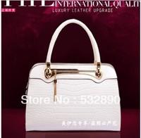 korea solid Zipper Versatile casual popular genuine leather handbag office bag leather casual handbags for lady free shipping
