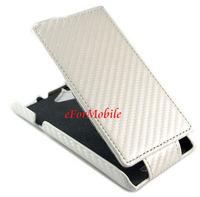 Unibody Cover Carbon Fiber Case PU Case Leather Case Flip Cover   For Sony Xperia L S36H C2105 C2104