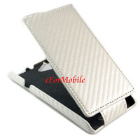 Unibody Cover Carbon Fiber Case PU Case Leather Case Flip Cover   For Sony Xperia L S36H C2105 C2104