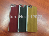 For iPhone 5C 1000pcs Free Shipping Deluxe Chrome Wood Shape Fashion Luxury Hard Case Cover