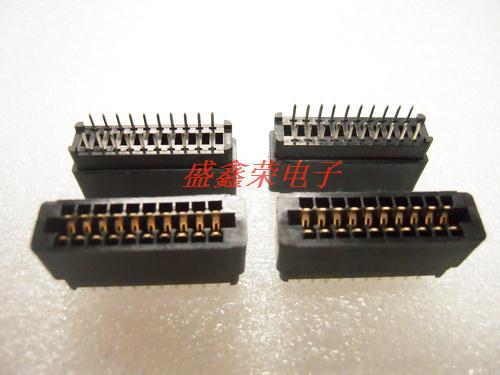 805 au socket pcb slot 20p 2.54mm(China (Mainland))
